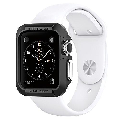 Apple Watch ケース, Spigen® アップル ウォッチ (38mm) ラギッド・アーマー 【国内正規品】 (2015) (ブラック【SGP11485】)