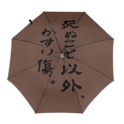 死ぬこと以外はかすり傷 折りたたみ傘 日傘 ワンタッチ自動開...