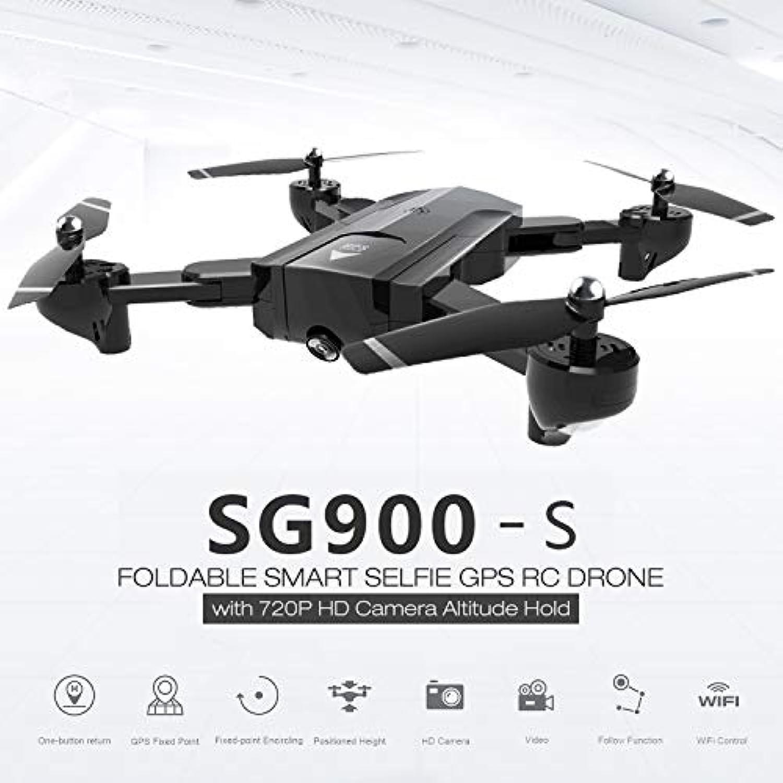 SG900-S 2.4G RCドローン折りたたみ自転車スマートGPS FPVクアドコプター720P HDカメラ高度保留私に従ってくださいワンキーリターン(カラー:ブラック)