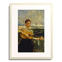 マックス・クリンガー Klinger, Max 「Romische Lautenspielerin. 1892」 額装アート作品