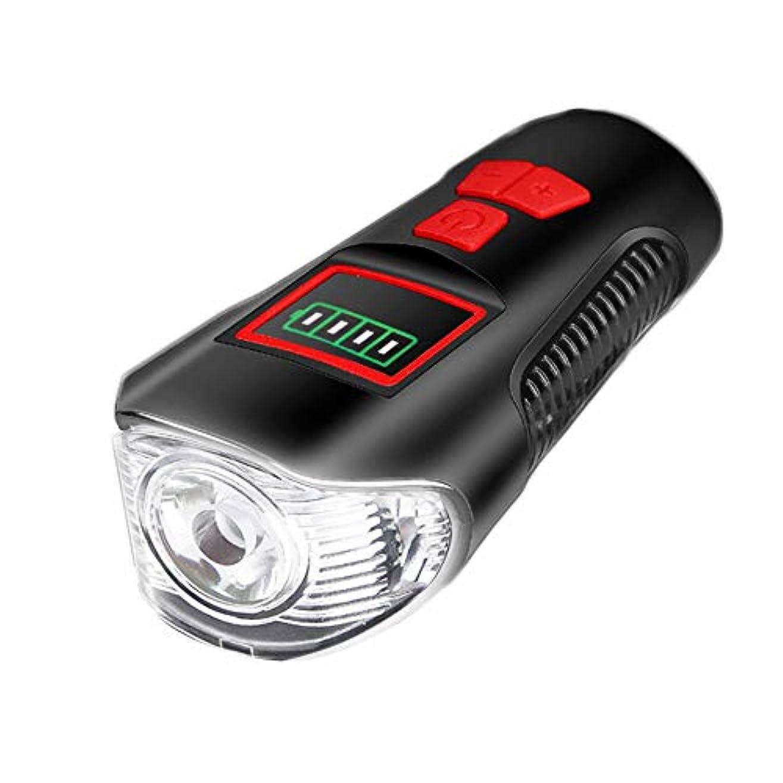 良心的バルセロナカスケードDOMO 自転車ライト マウンテンバイク ヘッドライト USB充電 防水 照明付き グレア スピーカー ナイトライディング用品 サイクリング用品 (パワーディスプレイ)