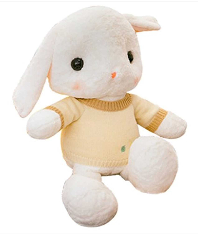 MILEE ぬいぐるみ 兎 大耳可愛いぬいぐるみ ウサギ rabbit plush toys フワフワうさぎ 縫いぐるみ クリスマス プレゼント/お誕生日 ウサギ 大きい ぬいぐるみ 手触りふわふわ 動物ぬいぐるみ 抱き枕 女性 母の日 クリスマス 彼女 バレンタインデー ホワイトデー ギフト 贈り物 女の子 店飾り おもちゃ (ホワイトA, 50CM)