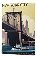 Tin Sign City New York City