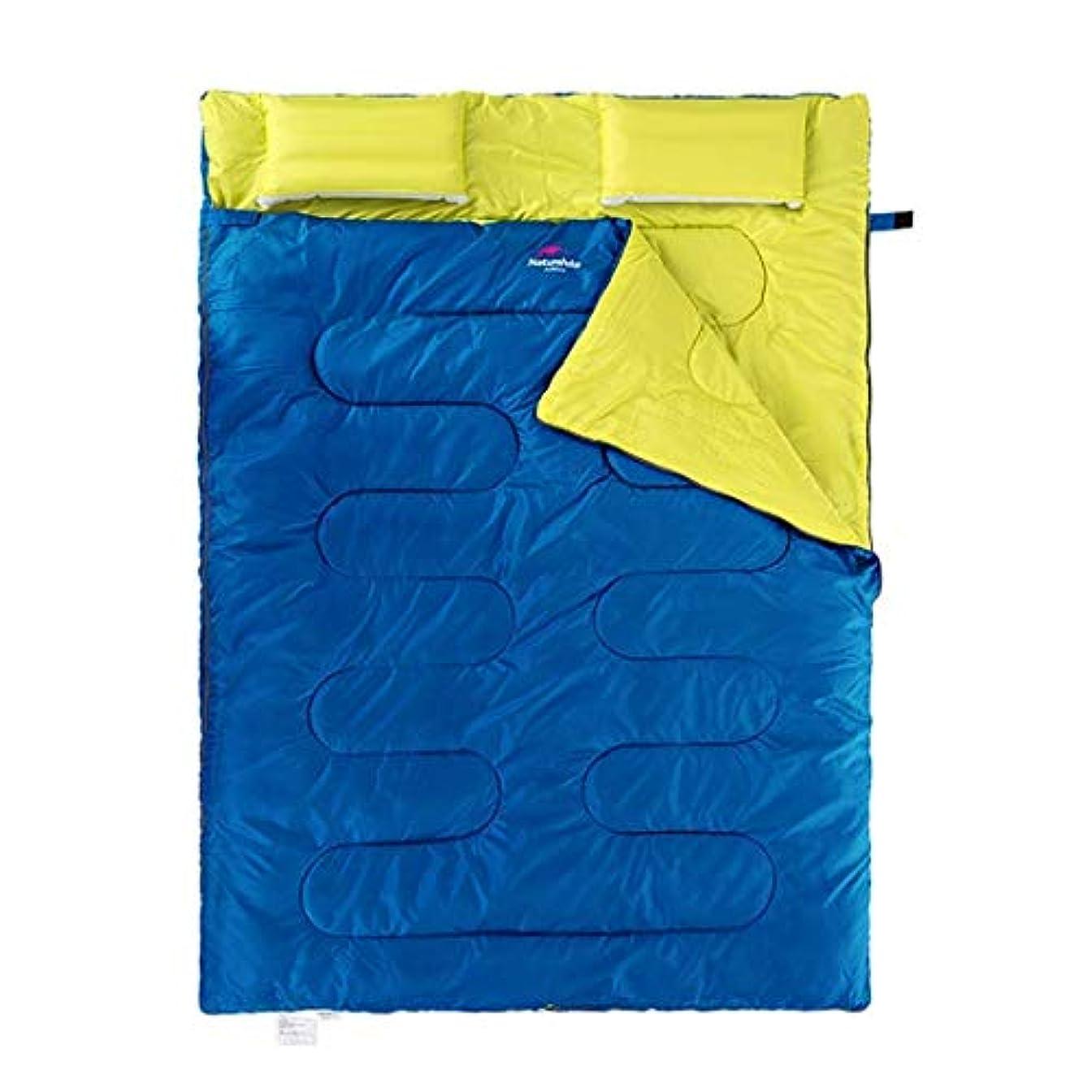 新年大脳爪カップル大型封筒寝袋ダブルキャンプ軽量コンパクト暖かく快適な室内用スリーピングマット大人のハイキングバックパック登山野外活動
