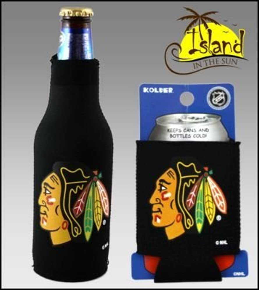 最大理由保証セットの2 Chicago Blackhawks Can & Bottle Koozie Cooler