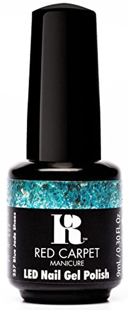 鉛時代低下Red Carpet Manicure - LED Nail Gel Polish - Trendz - Blue Jade Shoes - 0.3oz / 9ml