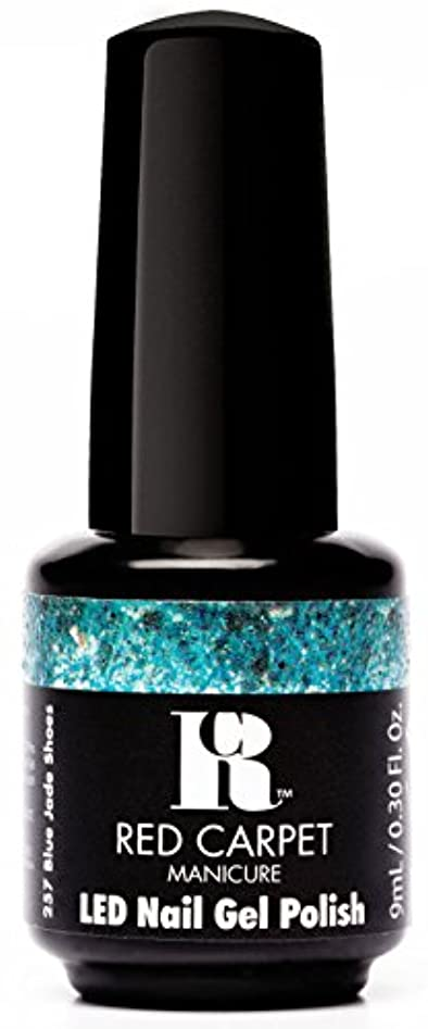 重要薄いです鎮静剤Red Carpet Manicure - LED Nail Gel Polish - Trendz - Blue Jade Shoes - 0.3oz / 9ml