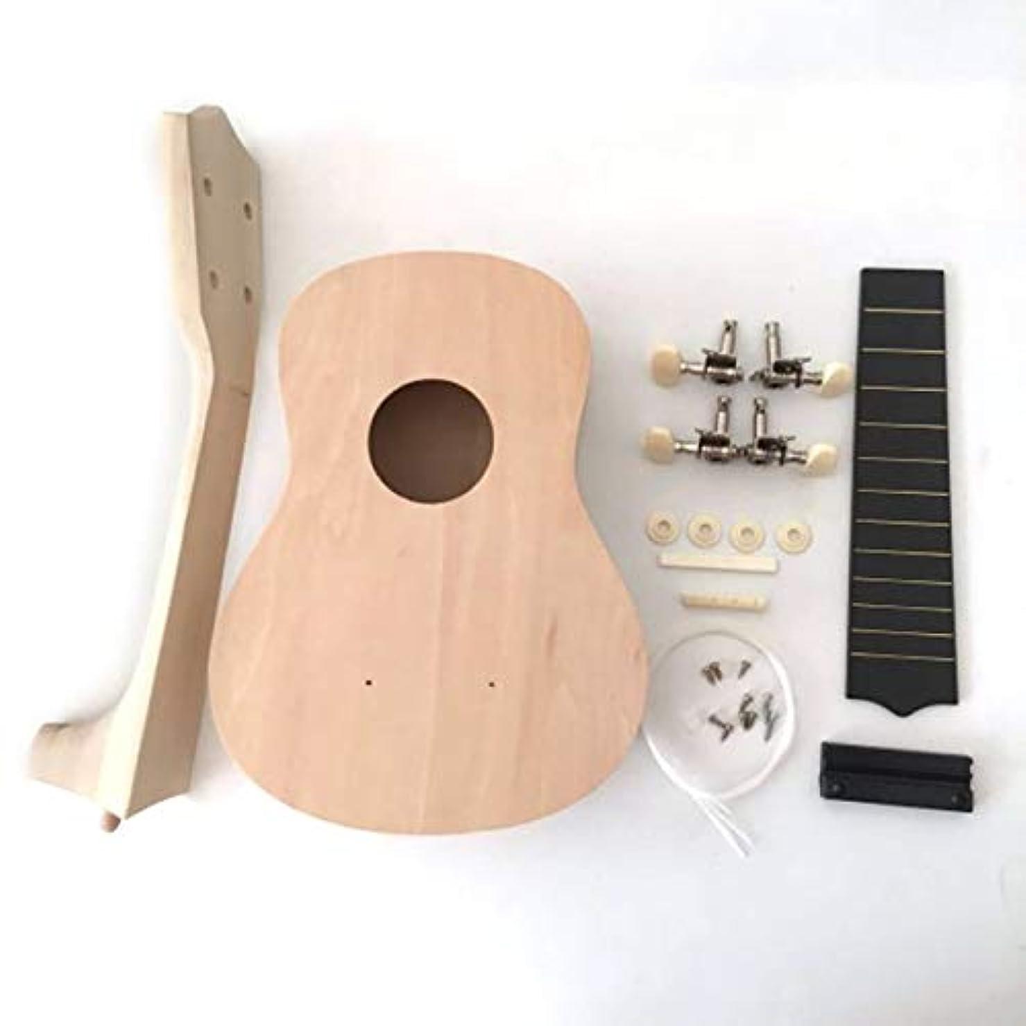 エクステントアフリカ評論家QinKingstore ポータブルサイズ21インチウクレレDIYキットハワイギター手仕事絵画木製音楽おもちゃ楽器おもちゃ子供のため