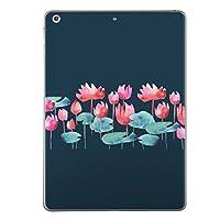 第6世代 iPad 9.7インチ 9.7inch iPad6 2018年モデル A1893 A1954 スキンシール apple アップル アイパッド タブレット tablet シール ステッカー ケース 保護シール 背面 人気 単品 おしゃれ おしゃれ 花 植物 水連 012196