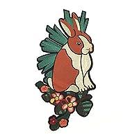 (ライチ) Lychee パッチ バッジ 刺繍 兎 カラフル 光沢感 可愛い おしゃれ 欧米風 個性的な装飾 装飾品 縫製 ジャケット バッグ 工芸品 DIY