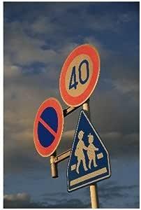 ポストカード「標識 40キロ制限」絵はがきハガキ葉書