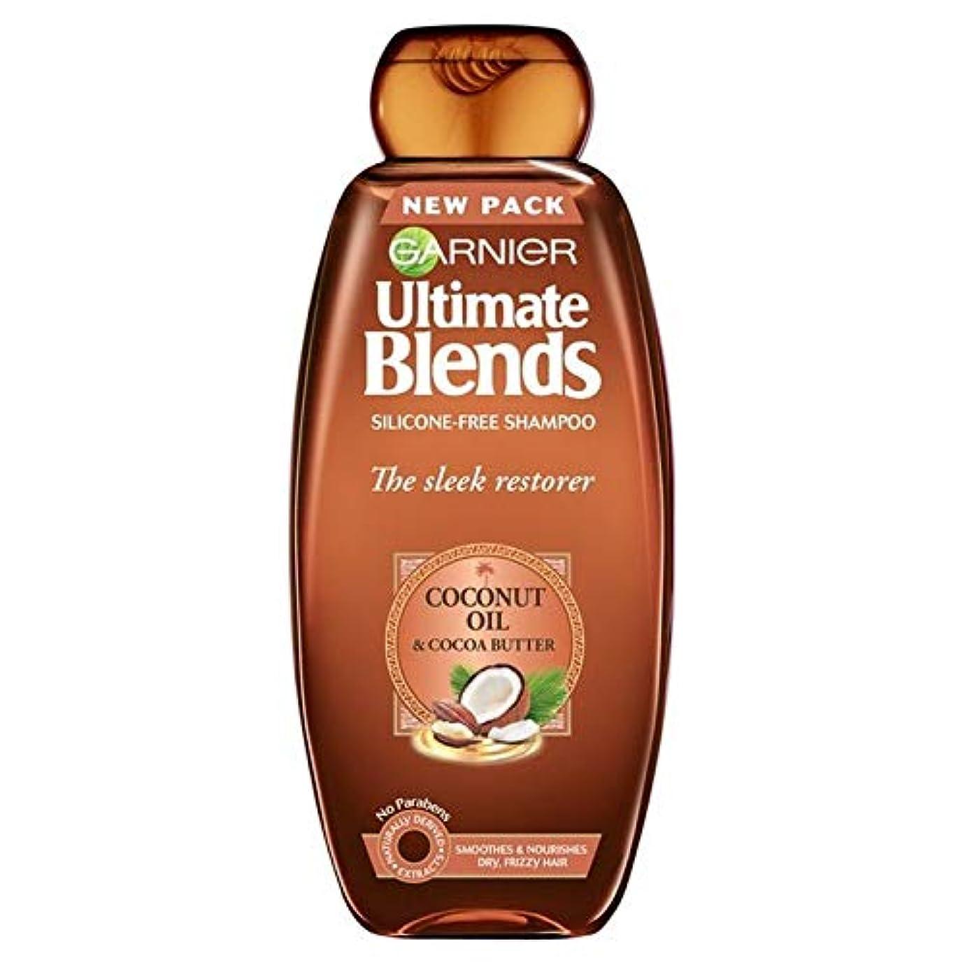 ぼろ褐色後方に[Garnier ] ガルニエ究極は、ココナッツオイル縮れた髪シャンプー360ミリリットルをブレンド - Garnier Ultimate Blends Coconut Oil Frizzy Hair Shampoo 360ml...