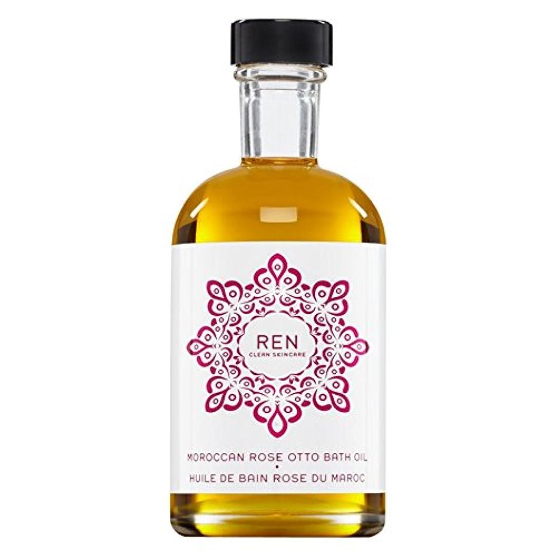 効能事前前者Renモロッコは、バスオイルの100ミリリットルをオットーローズ (REN) - REN Moroccan Rose Otto Bath Oil 100ml [並行輸入品]