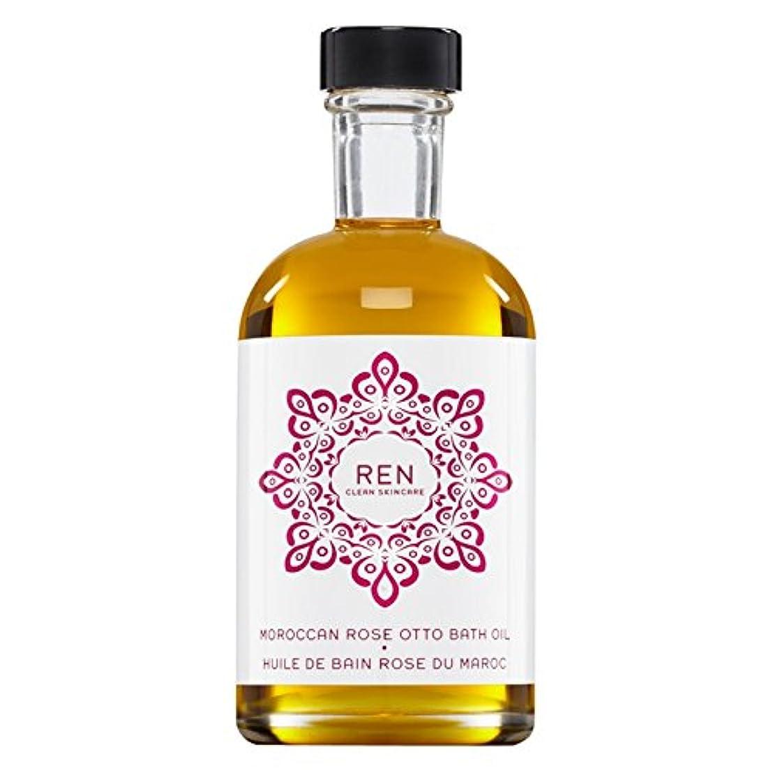 算術操作可能挨拶Renモロッコは、バスオイルの100ミリリットルをオットーローズ (REN) - REN Moroccan Rose Otto Bath Oil 100ml [並行輸入品]