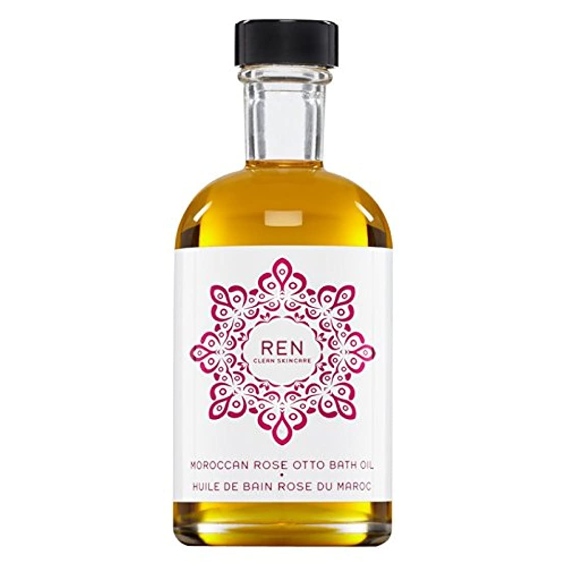 Renモロッコは、バスオイルの100ミリリットルをオットーローズ (REN) (x2) - REN Moroccan Rose Otto Bath Oil 100ml (Pack of 2) [並行輸入品]