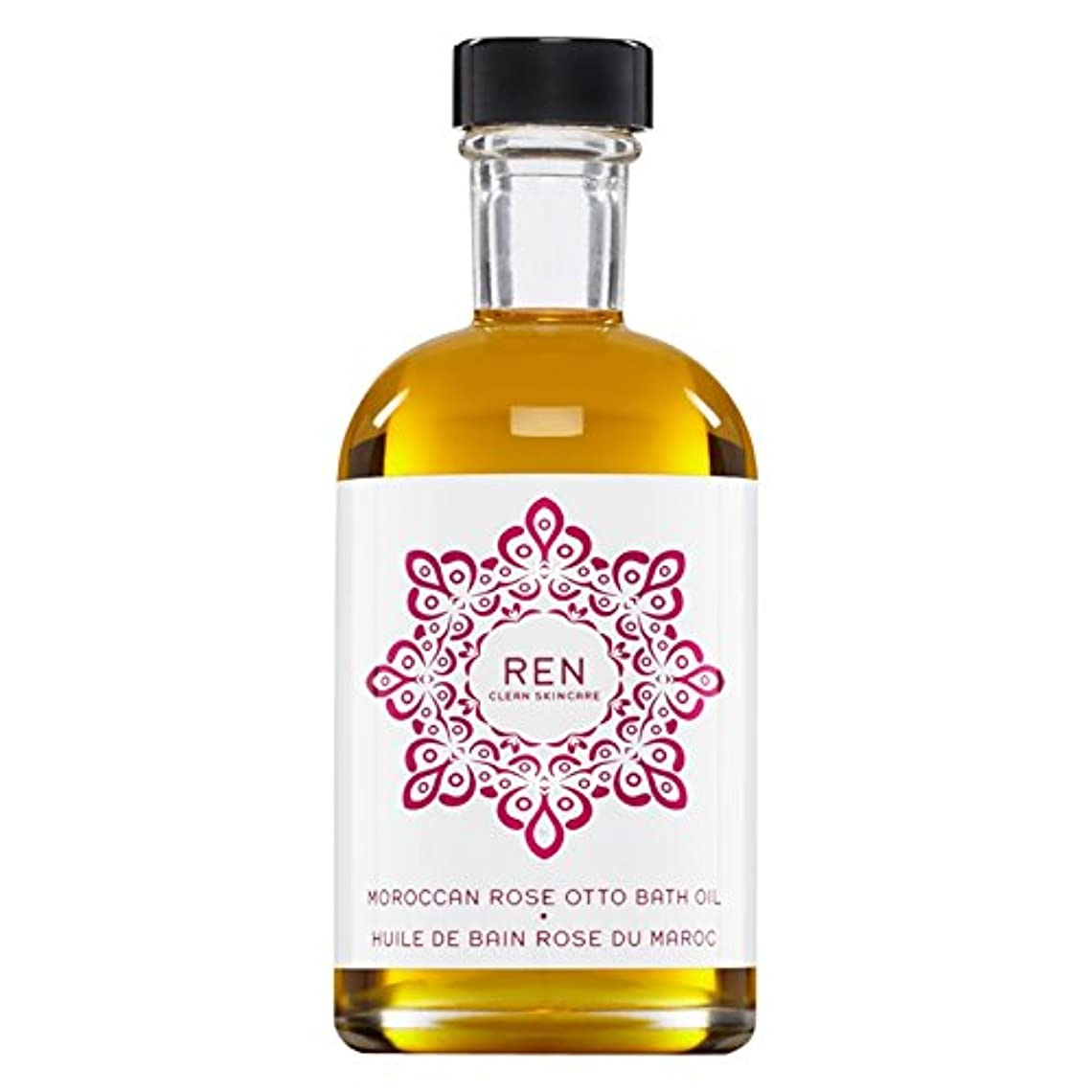 櫛アナロジーアンペアRenモロッコは、バスオイルの100ミリリットルをオットーローズ (REN) (x2) - REN Moroccan Rose Otto Bath Oil 100ml (Pack of 2) [並行輸入品]