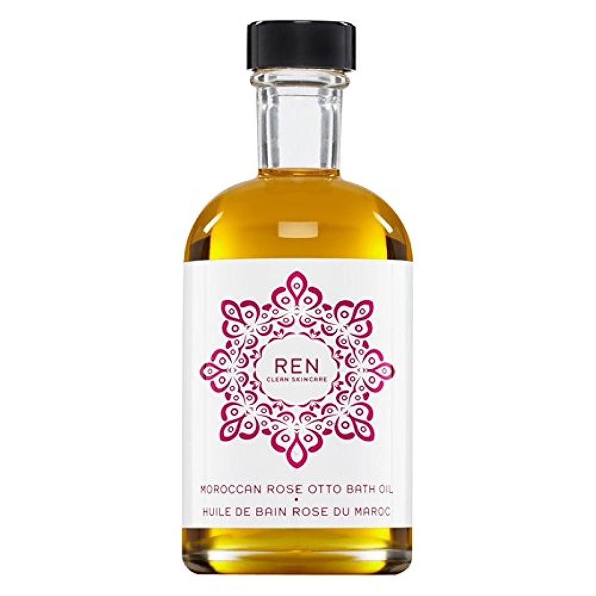 朝ごはんサンダルスキャンRenモロッコは、バスオイルの100ミリリットルをオットーローズ (REN) (x6) - REN Moroccan Rose Otto Bath Oil 100ml (Pack of 6) [並行輸入品]