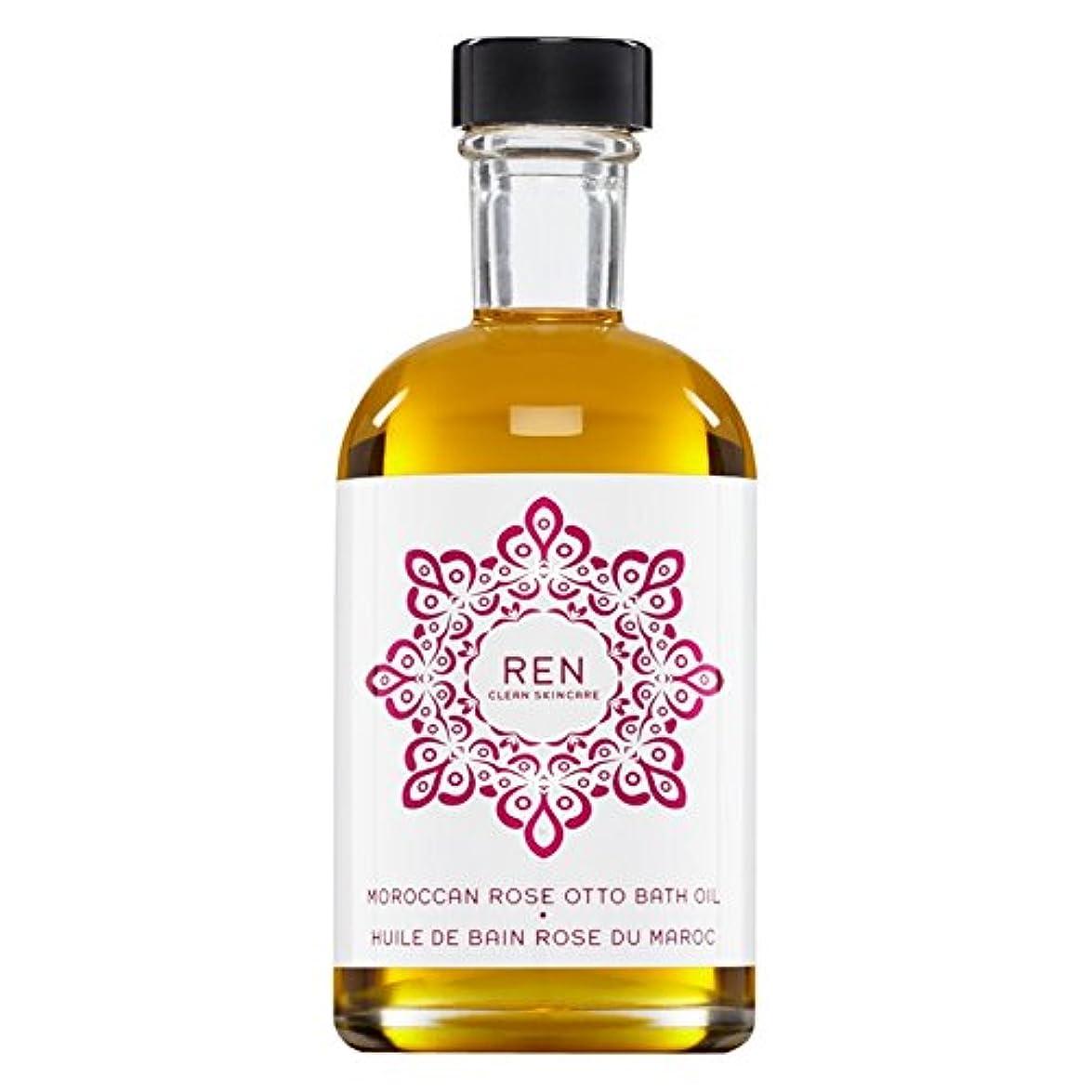口突き刺す起こるRenモロッコは、バスオイルの100ミリリットルをオットーローズ (REN) (x2) - REN Moroccan Rose Otto Bath Oil 100ml (Pack of 2) [並行輸入品]