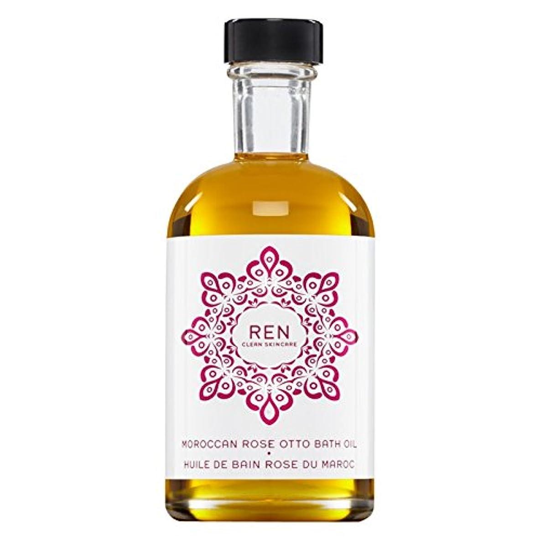 台無しに技術者開業医Renモロッコは、バスオイルの100ミリリットルをオットーローズ (REN) (x2) - REN Moroccan Rose Otto Bath Oil 100ml (Pack of 2) [並行輸入品]