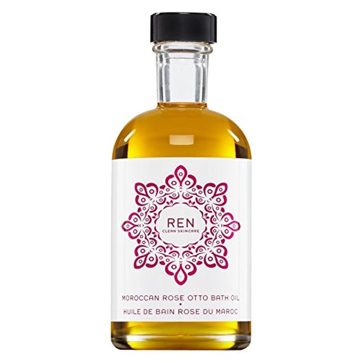 テクトニック滑りやすいスクラップRenモロッコは、バスオイルの100ミリリットルをオットーローズ (REN) (x6) - REN Moroccan Rose Otto Bath Oil 100ml (Pack of 6) [並行輸入品]