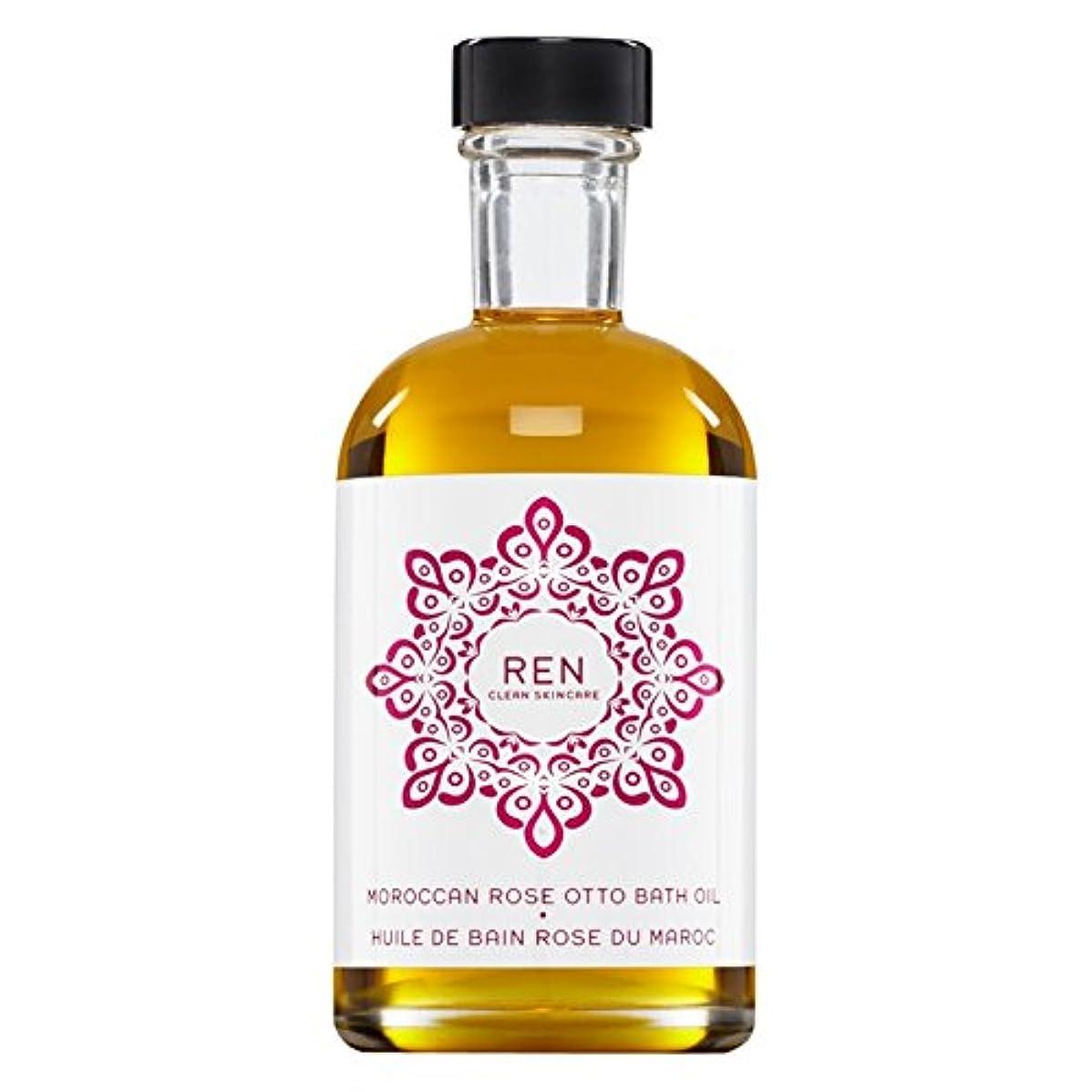 影響する自分を引き上げるおばあさんRenモロッコは、バスオイルの100ミリリットルをオットーローズ (REN) (x6) - REN Moroccan Rose Otto Bath Oil 100ml (Pack of 6) [並行輸入品]