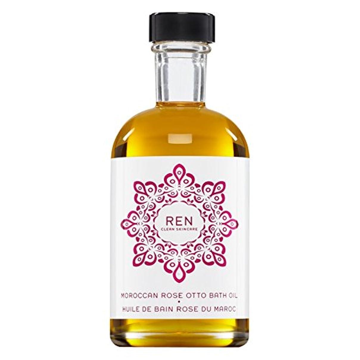 襲撃航空機コンセンサスRenモロッコは、バスオイルの100ミリリットルをオットーローズ (REN) (x6) - REN Moroccan Rose Otto Bath Oil 100ml (Pack of 6) [並行輸入品]