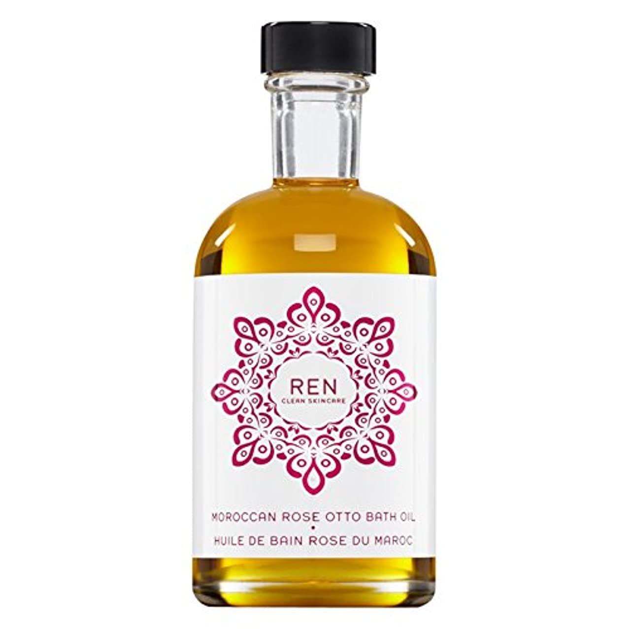 Renモロッコは、バスオイルの100ミリリットルをオットーローズ (REN) (x6) - REN Moroccan Rose Otto Bath Oil 100ml (Pack of 6) [並行輸入品]