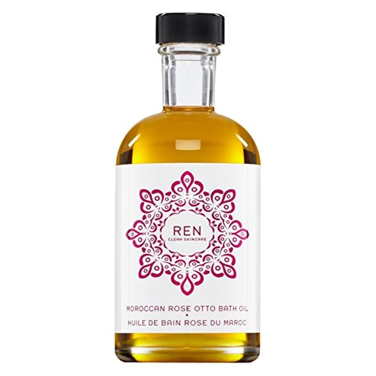 割合組み立てる支配的Renモロッコは、バスオイルの100ミリリットルをオットーローズ (REN) (x6) - REN Moroccan Rose Otto Bath Oil 100ml (Pack of 6) [並行輸入品]