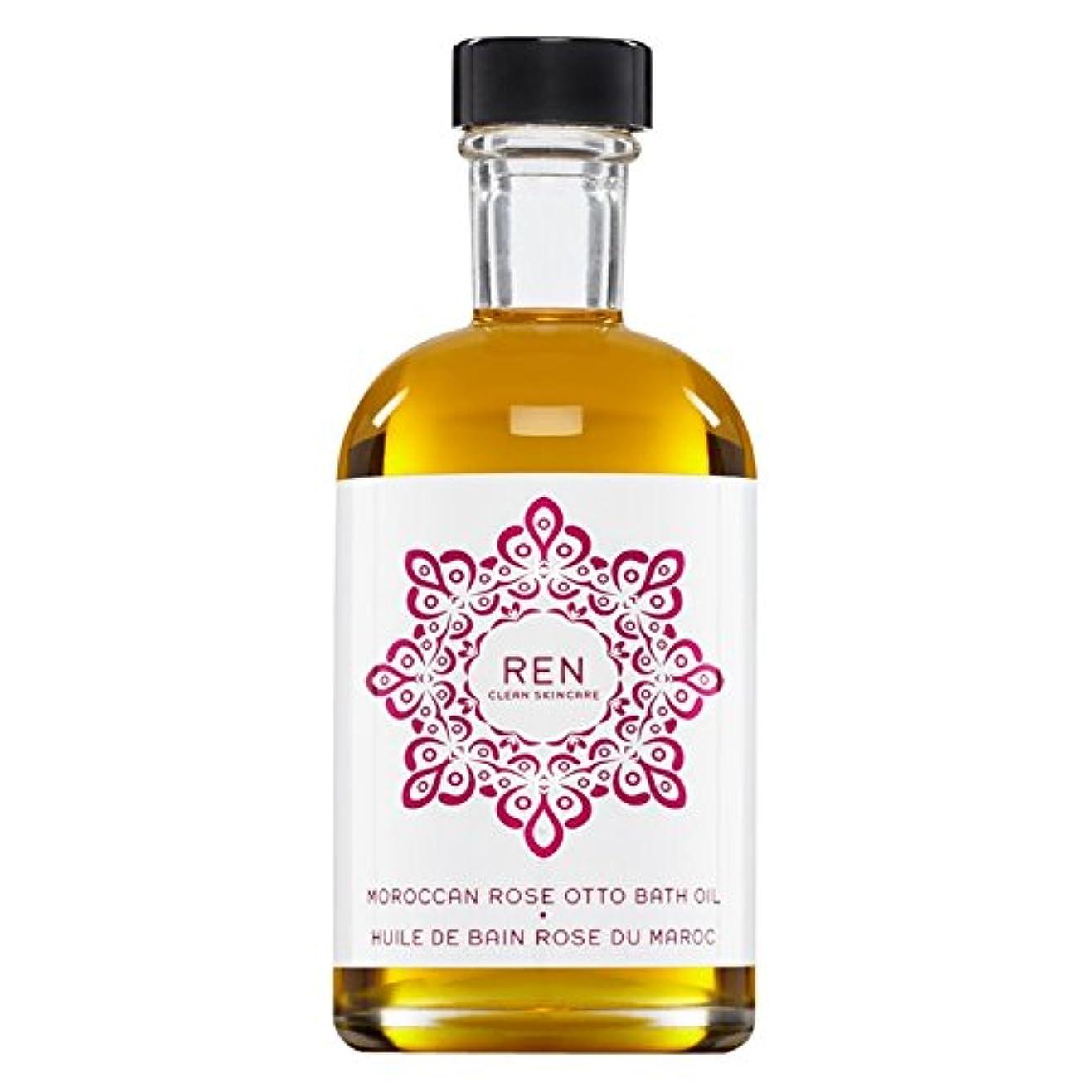 司書運河暴行Renモロッコは、バスオイルの100ミリリットルをオットーローズ (REN) (x2) - REN Moroccan Rose Otto Bath Oil 100ml (Pack of 2) [並行輸入品]