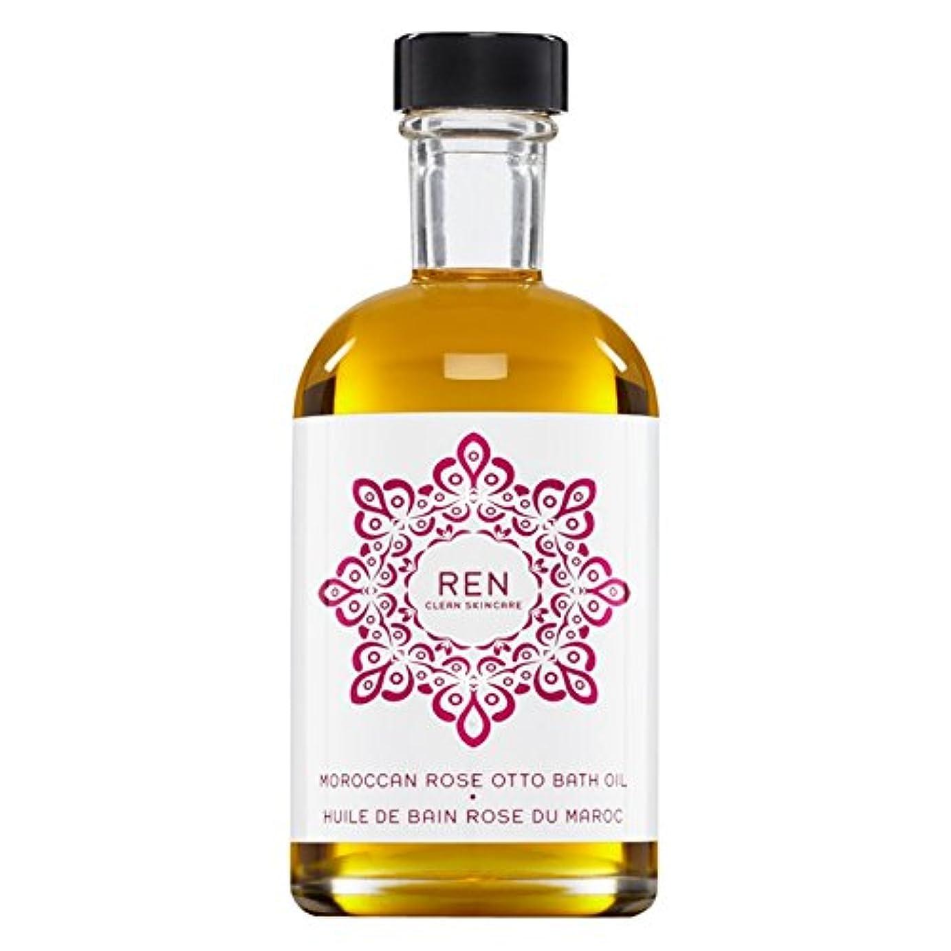 肘に対応する科学Renモロッコは、バスオイルの100ミリリットルをオットーローズ (REN) (x2) - REN Moroccan Rose Otto Bath Oil 100ml (Pack of 2) [並行輸入品]