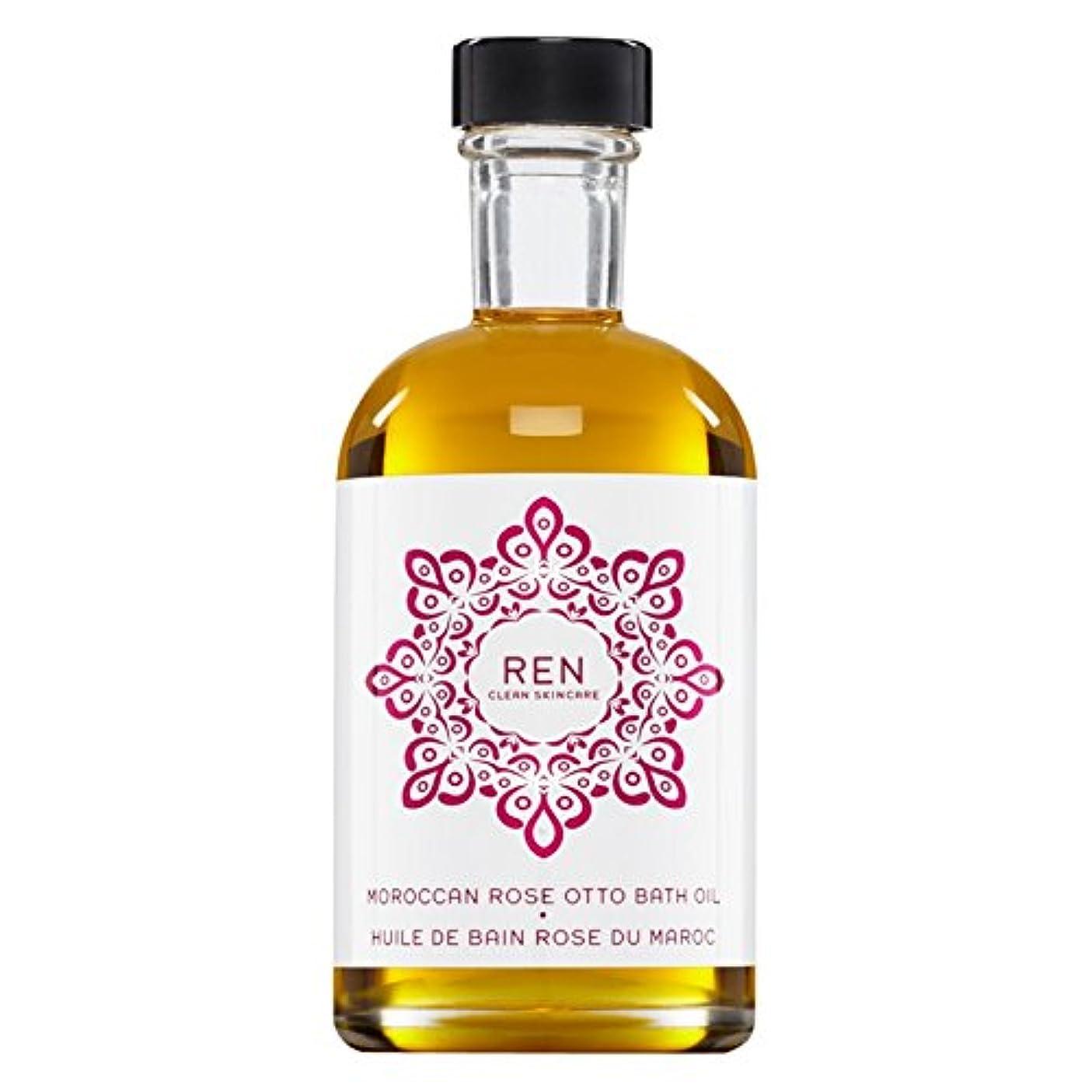 服ゲートウェイワーカーRenモロッコは、バスオイルの100ミリリットルをオットーローズ (REN) (x6) - REN Moroccan Rose Otto Bath Oil 100ml (Pack of 6) [並行輸入品]