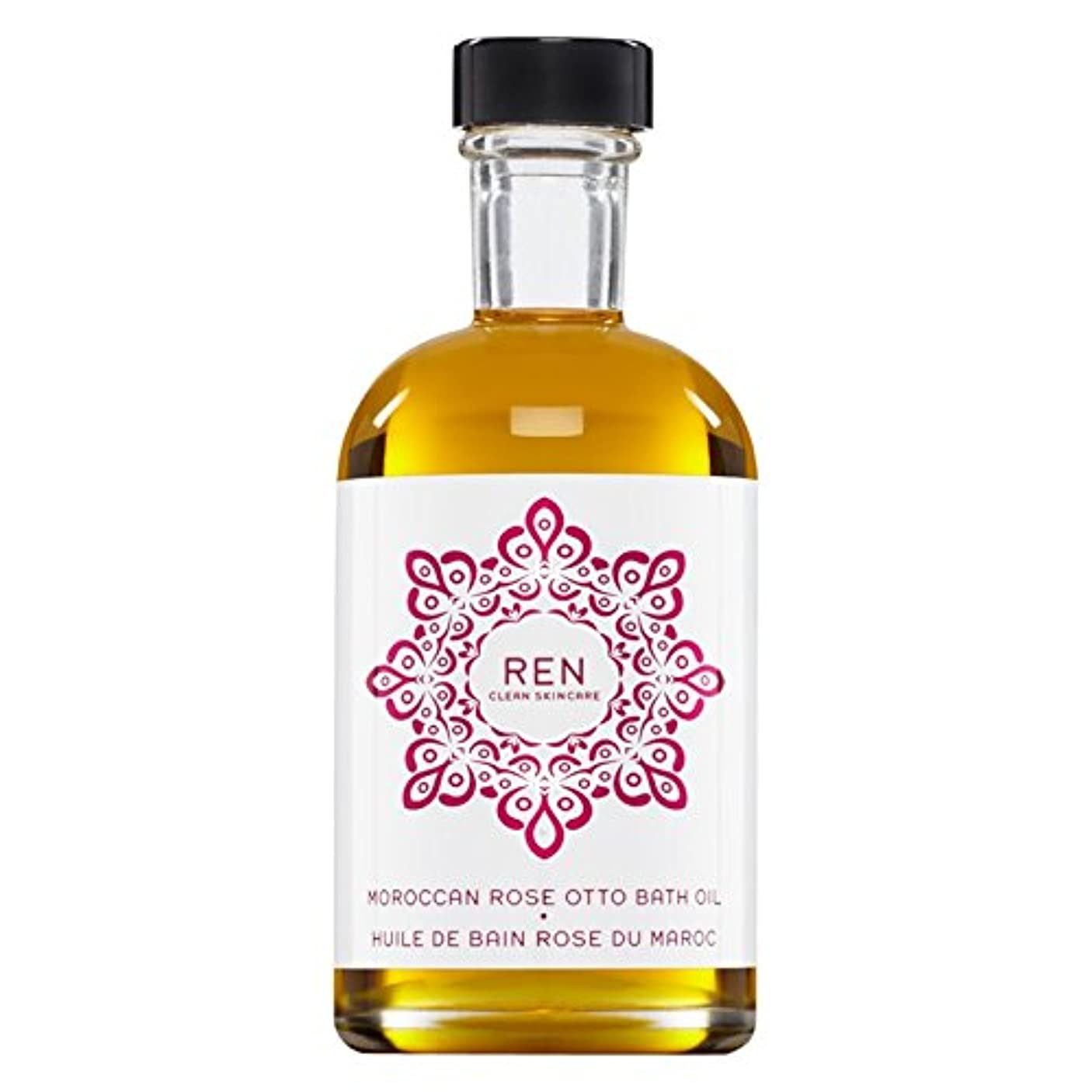 オートマトンスクリーチ操作Renモロッコは、バスオイルの100ミリリットルをオットーローズ (REN) - REN Moroccan Rose Otto Bath Oil 100ml [並行輸入品]