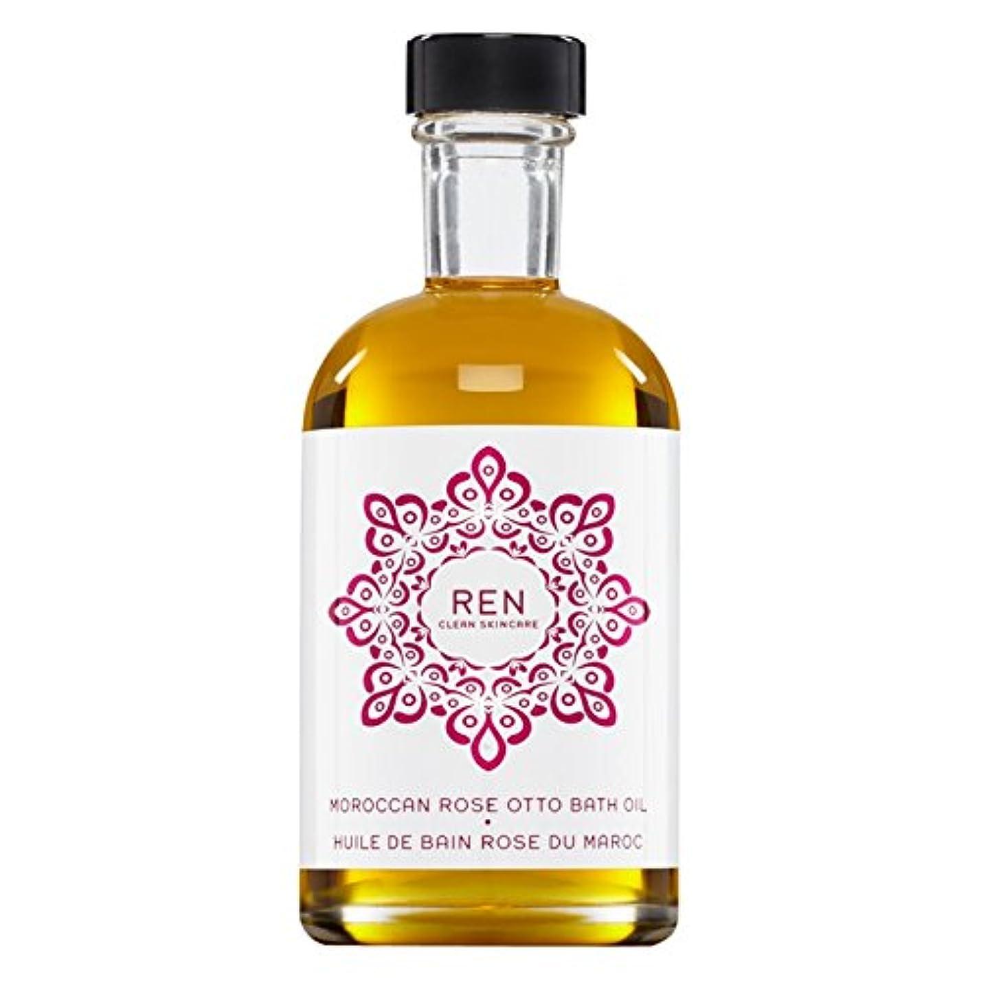 数下眠いですRenモロッコは、バスオイルの100ミリリットルをオットーローズ (REN) - REN Moroccan Rose Otto Bath Oil 100ml [並行輸入品]