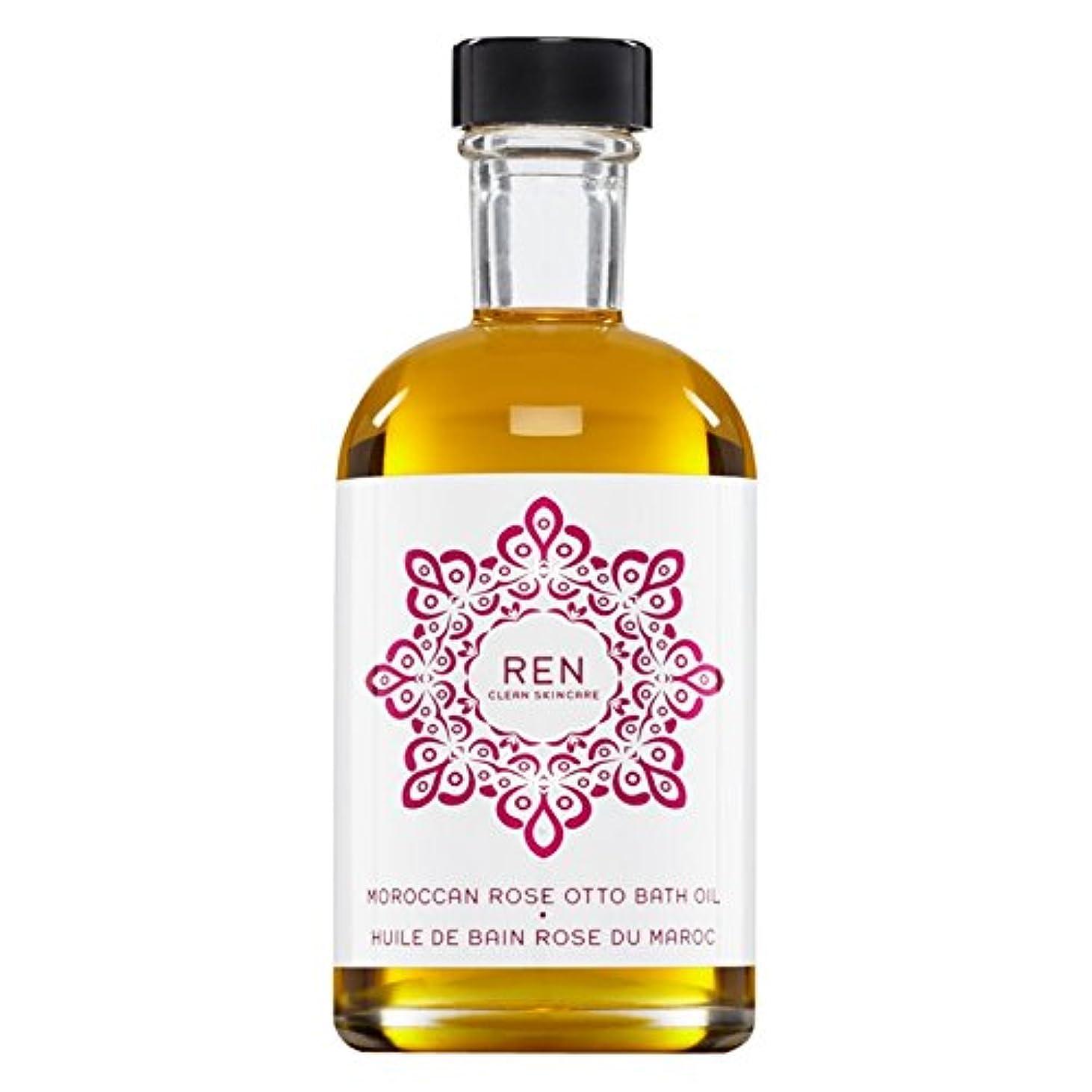 投げ捨てるオートマトンテレックスRenモロッコは、バスオイルの100ミリリットルをオットーローズ (REN) (x2) - REN Moroccan Rose Otto Bath Oil 100ml (Pack of 2) [並行輸入品]