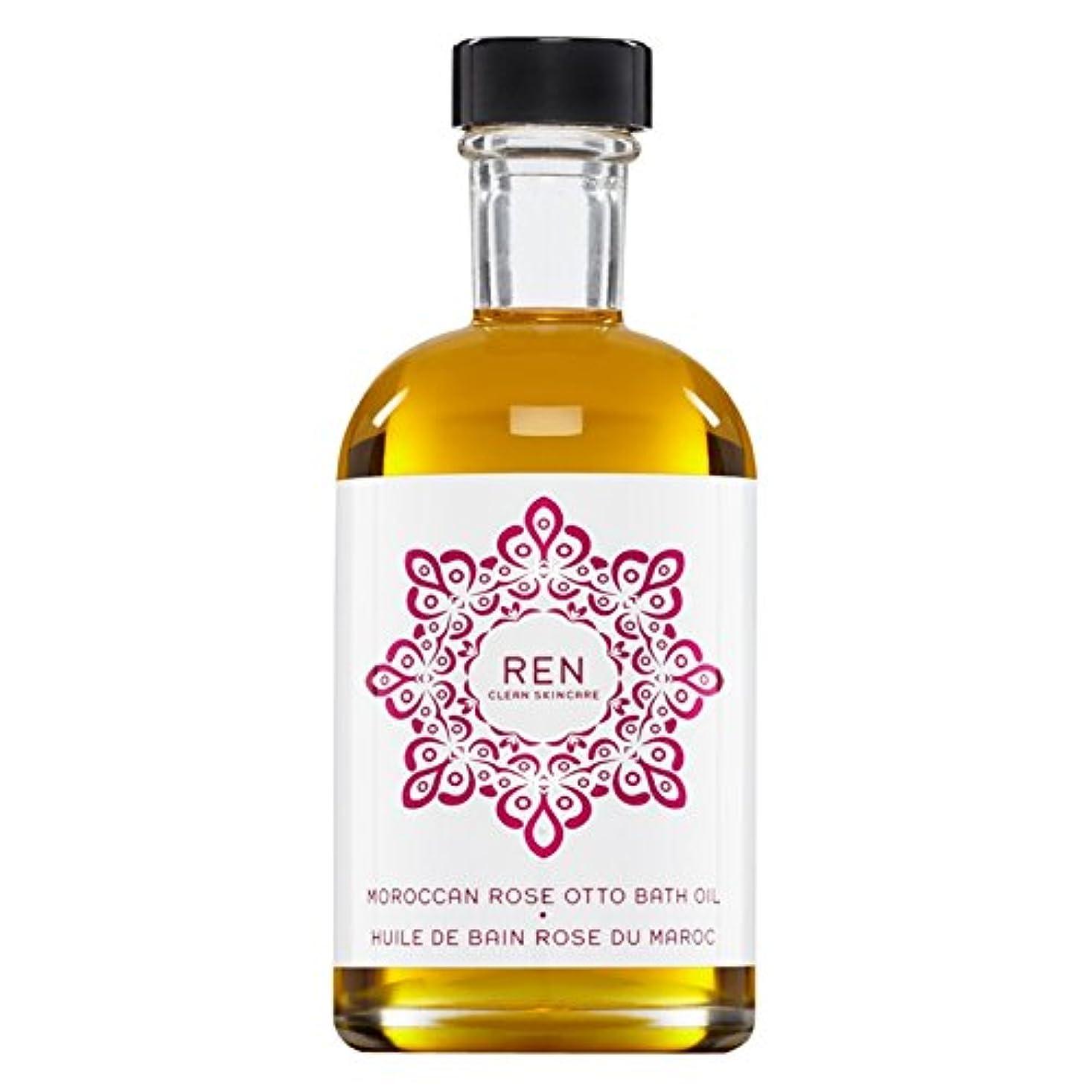 ヒステリックすき浸漬Renモロッコは、バスオイルの100ミリリットルをオットーローズ (REN) - REN Moroccan Rose Otto Bath Oil 100ml [並行輸入品]