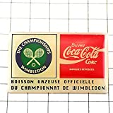 限定 レア ピンバッジ ウィンブルドン選手権テニス英国イギリスUKコカコーラ飲物 ピンズ フランス