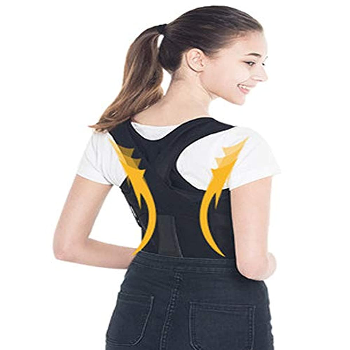 りフェンス胚Rui Peng バックコレクションテープ 背中のサポートベルトバックの女の子新しいE学生子供大人改善脊柱矯正と男性の脊椎変形背部の矯正 (サイズ さいず : XXL)