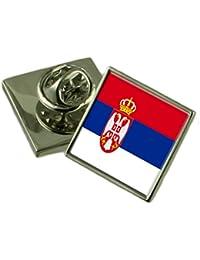 ユーゴスラビアの旗ラペルピンバッジ 18 mm ギフトポーチを選択します