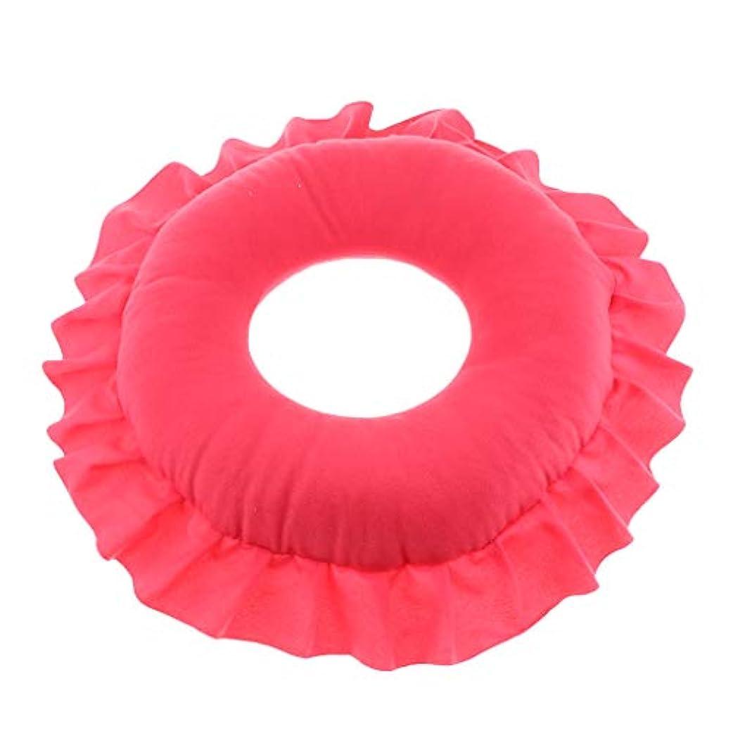 外交官プラットフォーム緊張するFLAMEER 全4色 フェイスピロー 顔枕 マッサージピロー クッション 美容院 快適 洗える 実用的 - 赤