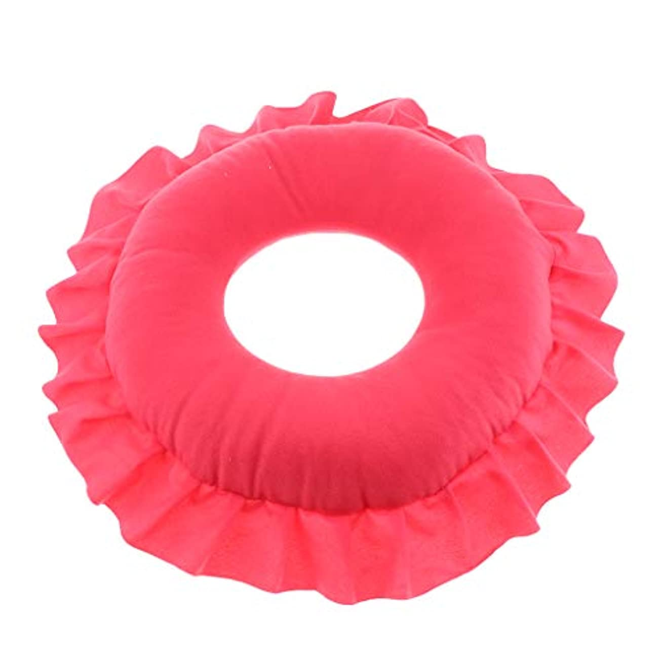 穀物人事気怠いFLAMEER 全4色 フェイスピロー 顔枕 マッサージピロー クッション 美容院 快適 洗える 実用的 - 赤