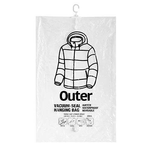 GENIAL(ジェニアル) 衣類カバー クリア 67×105cm バキュームシール ハンギングバッグ 263357 3枚入