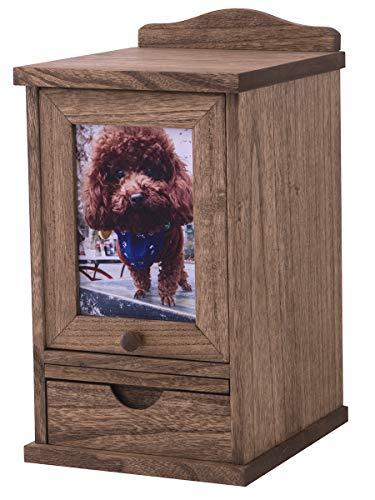 KIRIGEN 職人手作り ペット 仏壇 仏具 かわいい クリメイションボックス 桐製 ペット骨壷収納 ペット供養 ブラウン