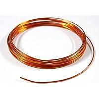 紗や工房 アーティストワイヤー 径約1.5mm 約4m オレンジ カラーアルミワイヤー ワイヤークラフト材料 ビーズ手芸.