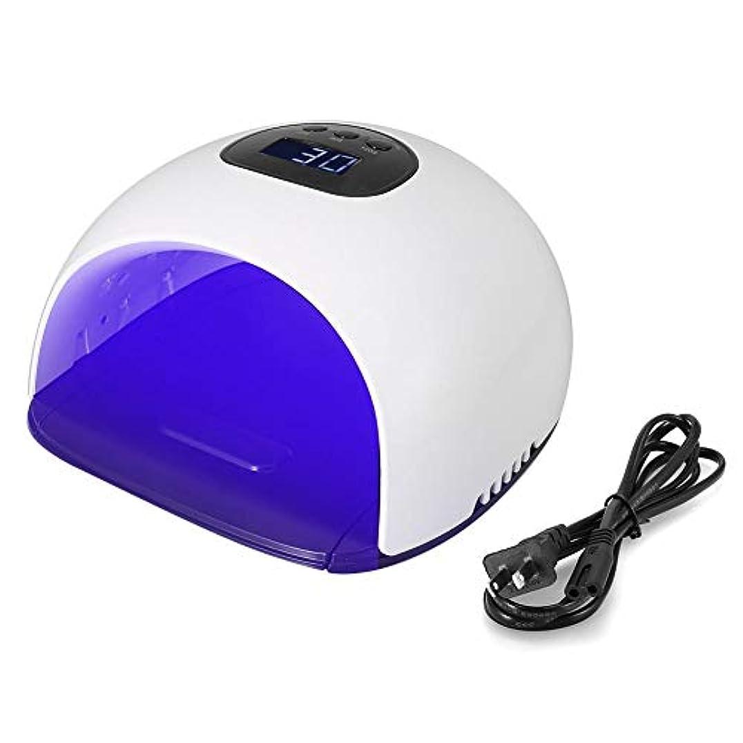 願うせっかち財団LEDネイルドライヤーUVネイルランプ48ワットスクリーン36 LED UV LEDネイルライト痛みのない低温120 sクイックドライUVネイル手と足の兼用(US)