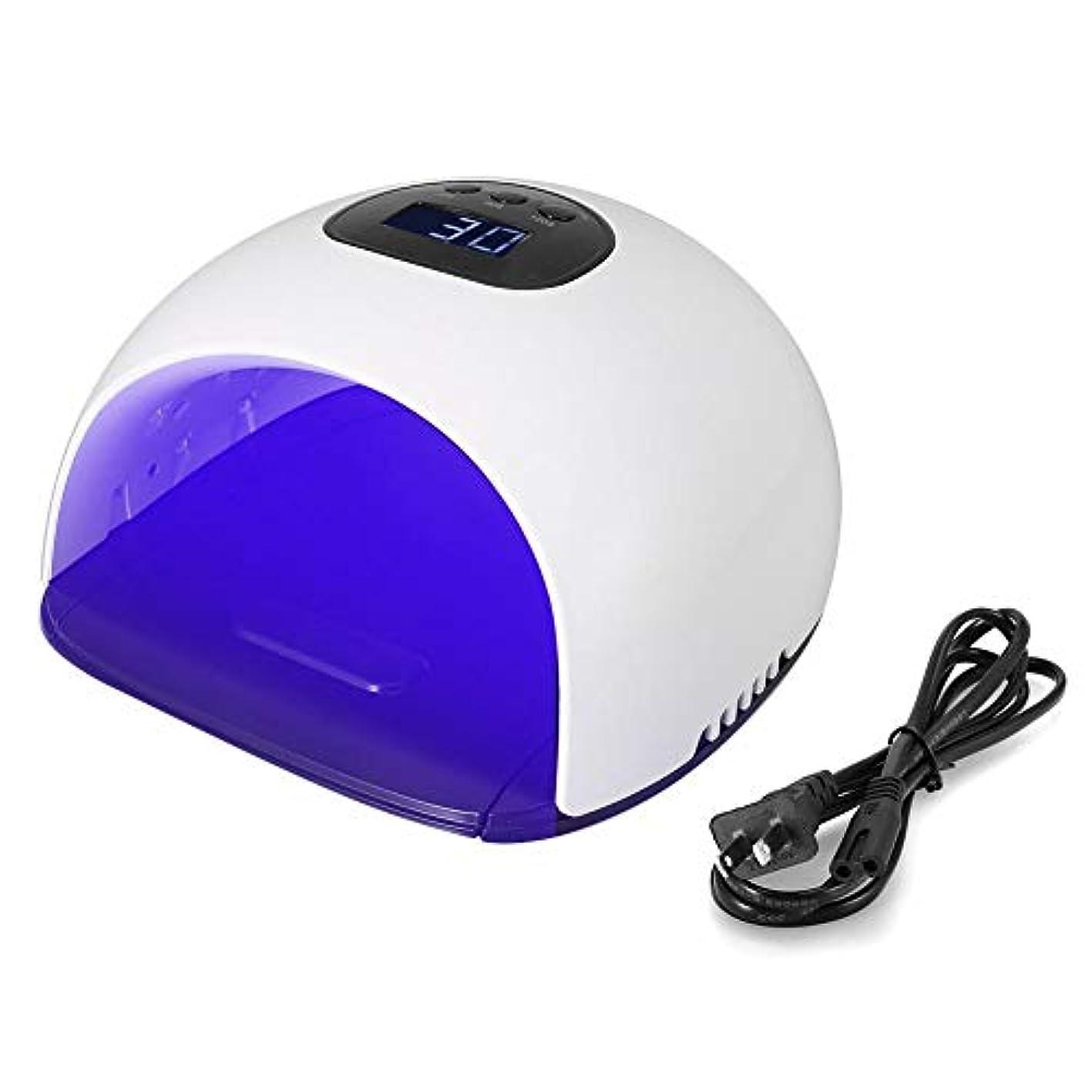 スペインレベル恋人LEDネイルドライヤーUVネイルランプ48ワットスクリーン36 LED UV LEDネイルライト痛みのない低温120 sクイックドライUVネイル手と足の兼用(US)