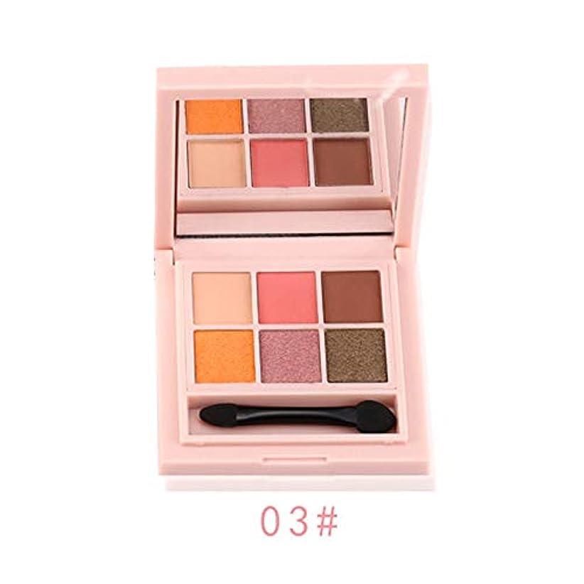 オプショナル先生住居6色入り アイシャドウ パレット Florrita 韓国風 Eye Palette 化粧ブラシ 落ちにくい 綺麗な発色 日常用 メイクアップセット キラキラ アイシャドー パレット パウダーアイシャドウ プレゼント (C)