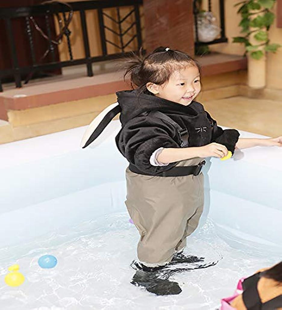 キャンディーボクシング微生物Neygu幼児用&子供の通気性防水Waders Bootfoot胸Waders、3t、陸軍グリーン