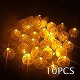KofunミニLEDライトボールランプバルーンランタンの誕生日パーティーの装飾10個の黄色