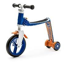 スクート&ライド ハイウェイベビープラス ブルー/オレンジ 工具不要で切替できるキッズスクーター⇔ペダルなし自転車の2wayスクーター
