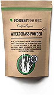 Forest Super Foods Certified Organic Australian Grown Young Wheat Grass Powder 500g (60 day supply) Premium Qu